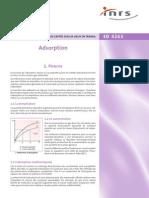 Adsorption - INRS