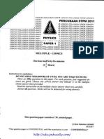 [Edu.joshuatly.com] Johor STPM Trial 2011 Physics Paper 1