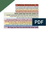 PTA Sheet