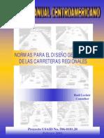 Manual centroamericano para Diseño Geometrico de Carreteras