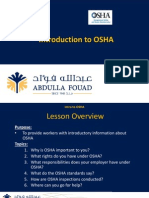 Module 1 - Intro to OSHA
