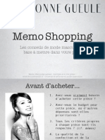FTS Memo Shopping BonneGueule