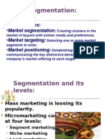 Chapter 8 Segmentation & Targeting