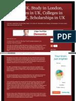 Study in UK, Study in London, Universities in UK, Colleges in London UK, Scholarships in UK