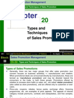 Ch-20 (Types and Techniques of Sales Promotion)