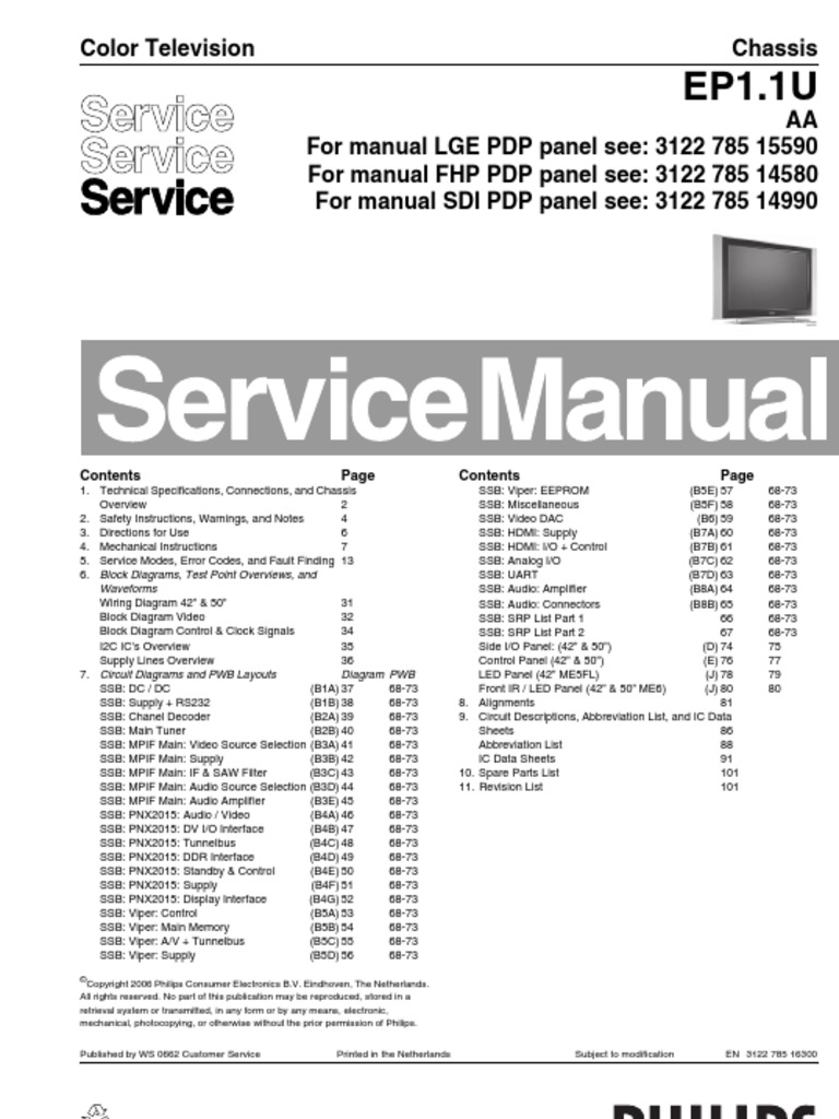 philips chassis ep1 1u aa service manual soldering solder rh scribd com