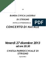 Concerto Natale Strigno