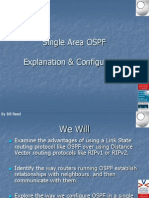 Single Area OSPF Open University