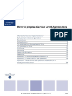 How to Prepare Service Level Agreements