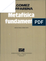 José Gómez Caffarena - Metafísica fundamental (GoogleBooks)