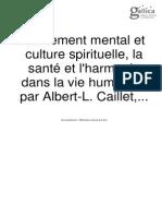 Traitement Mental Et Culture Spirituelle