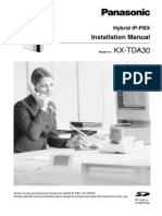 KX-TDA30 Installation Manual