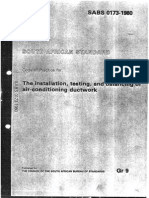 Part Duct Installation SABS 0173-1980