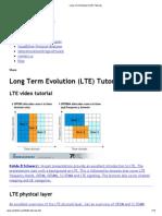 Long Term Evolution (LTE) Tutorials