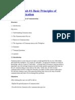 MB0039 Unit 01 Basic Principles of Communication