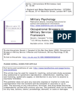 Occupational Stressors in Military Service.a Review and Framework