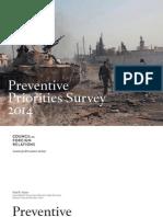 CFR CPA Preventive Priorities Survey 2014