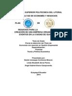PLAN DE NEGOCIOS PARA LA CREACION DE UNA EMPRESAS ORGANIZADORA DE EVENTOS EN LA CIUDAD DE GUAYAQU.docx