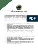 dallas county e-file rules
