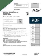 AQA GCSE Additional Maths 09 June Paper (Foundaion)