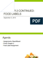 Chp 2 Food Label Lecture 9 5 13