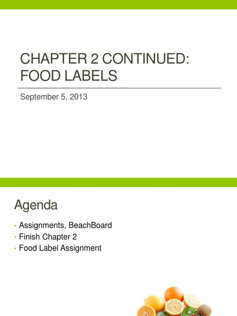 food label assignment