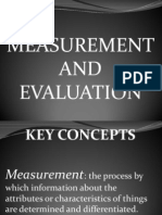 Measurement and Evaluation Ppp