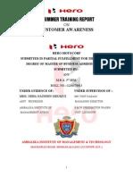 Customer Awareness of Hero-motocorp Anurum Report