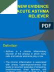 New Evidence in Acute Asthma Treatment