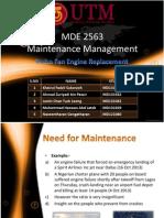 maintenance of aircraft