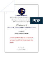 Internal Audit, Compliance& Ethics and Risk Management