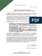 Reglamento del Registro de Auditores del Sistema de Gestión de Seguridad y Salud en el Trabajo  - Decreto Supremo 014-2013-TR