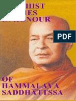 45812845 Buddhist Studies in Honour of Hammalava Saddhatissa