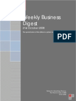 Weekly Business Digest 21 October 08