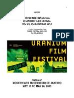 Report 3th International Uranium Film Festival Rio de Janeiro