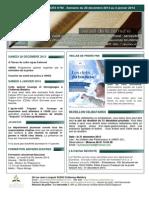 Bulletin d'annonces N°90 Semaine du 28 décembre 2013 au 4 janvier 2014