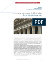 PONS, Félix. El control externo y la identidad de la Administración.