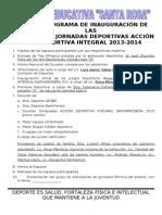 Programa Xxixv Jornadas Deportivas