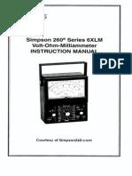Simpson 260-6xlm User Manual
