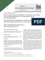 2013 Recomendaciones para el dx, tto y prevención de la NAC en adultos inmunocompetentes