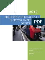 BENEFICIOS TRIBUTARIOS EN EL SECTOR EMPRESAS DE CONSTRUCCIÓN