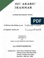 Basic Arabic Grammar