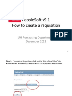 PeopleSoft v91 Requisitions