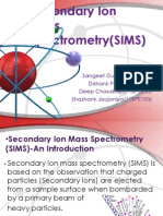 Secondary Ion Mass Spectrometry(SIMS)