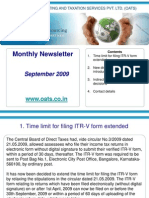 OATS Newsletter September 2009