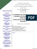 le ministère de l'intérieur sous le consulat et le premier empire (1799-1814) gouverner la france après le 18 brumaire - thèse