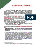 Strategi Lulus Sertifikasi Dosen 2014