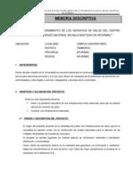 Memoria Desc. General Centro Medico
