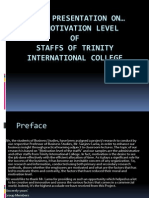 ppt presentation on the Motivation Level of TIC