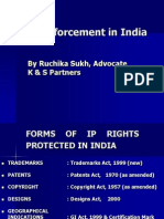 Ipr Enforcement in India (Ruchika Sukh)
